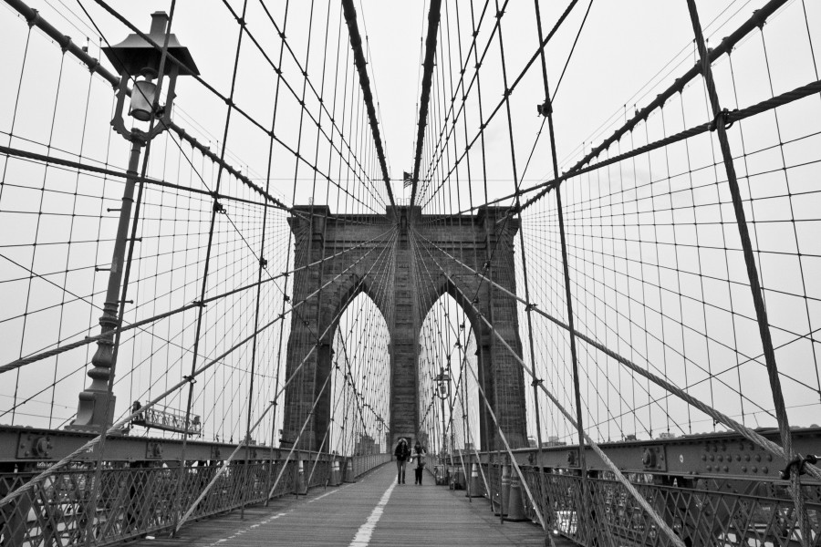 brooklyn bridge, new york, black and white, brige, new york city, reiseblogger, Brücke, Blog, Städtetrip
