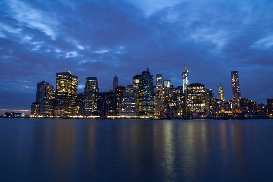 Sonnenuntergang, blaue Stunde, Skyline, New York, Insidertip, Must See, Spiegelung, East River