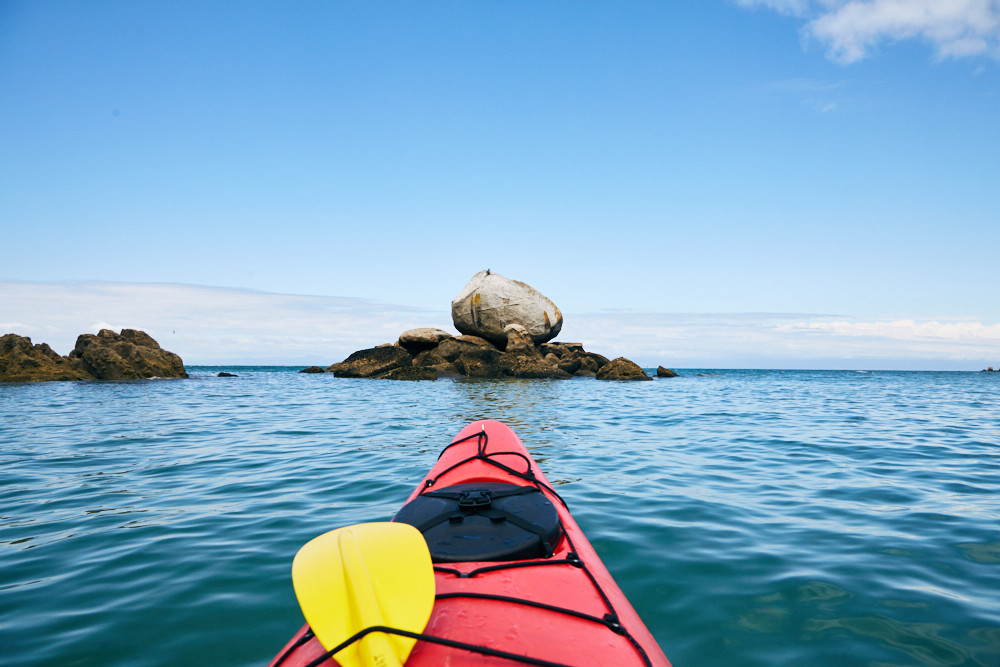 Abel Tasman, Nationalpark, Kayak, Tour, Split Apple Rock
