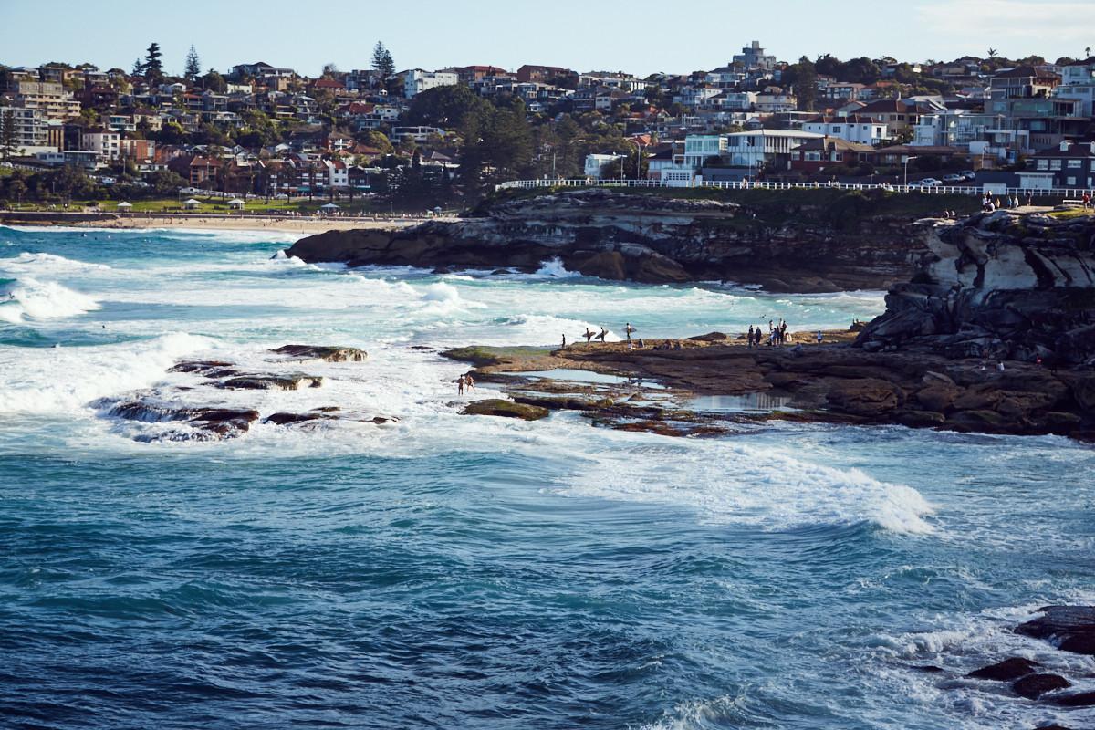 Tamarama Beach, Strand, Surfer, Schwimmer, Brandung, Citytrip, Städtetrip, Stadt, Reise, reisen, Spaziergang, Sydney