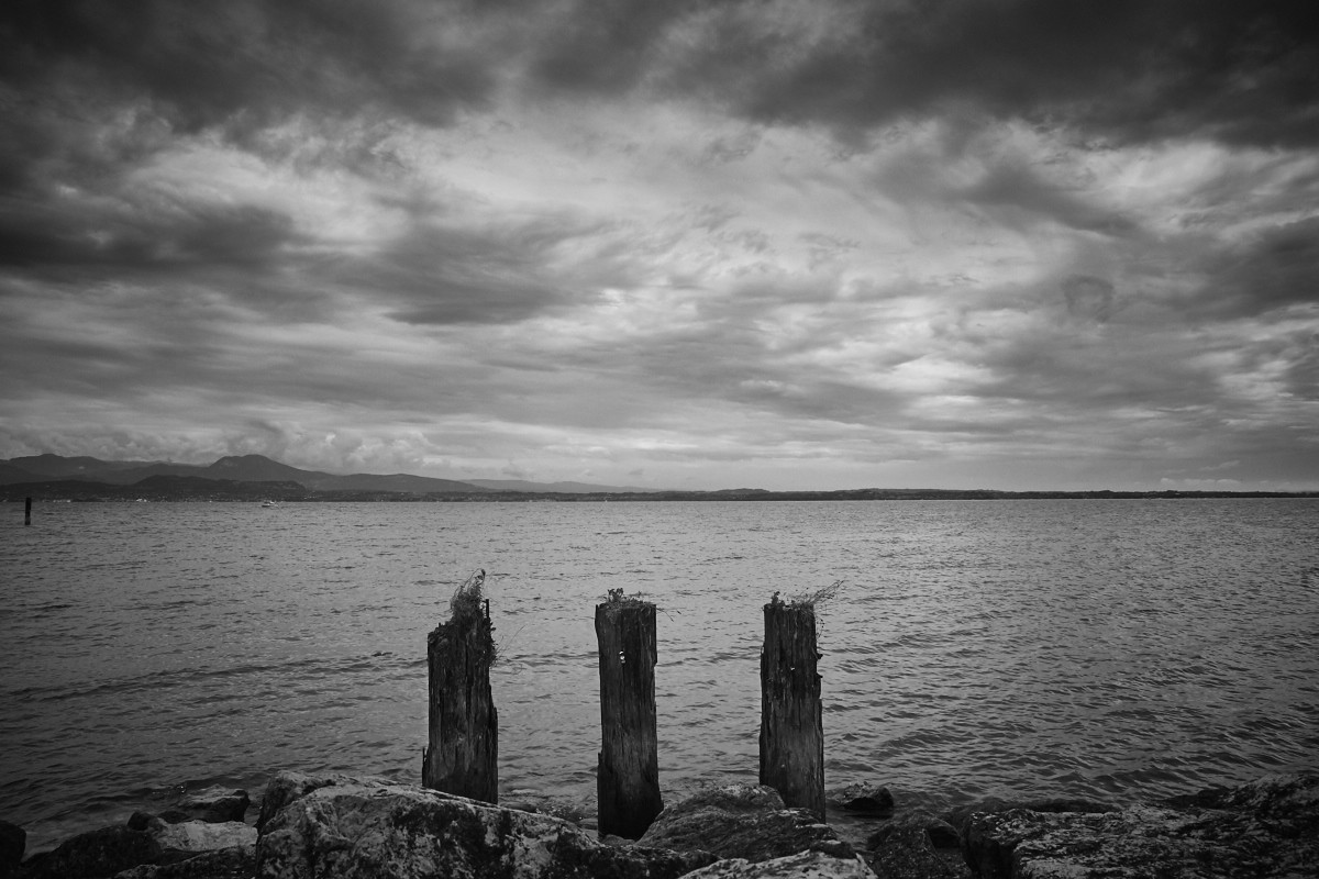 Sirmione, Gardasee, Lake, Wasser, schwarz weiß, Foto, Bild, Urlaiubsfoto, Reiseblog