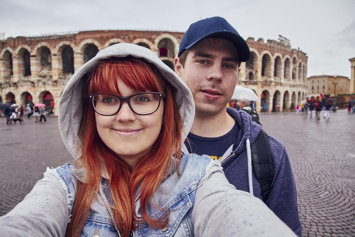 Verona, Christina, Ronnie, Kolosseum, Selfie, Urlaubsblog, Reiseblog, travelblog, blogger, travelblogger,, Italien